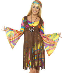 Sexy Retro 60s 70s Hippie Womens Halloween Costume
