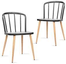 mc haus colonna 2er set stühle esszimmer nordischer stil schwarz moderner stuhl design schlafzimmer küche schreibtisch 40 5x43 5x74cm