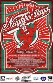 2013 Neighbor Days Providence Rock Roll Yard Sale Poster