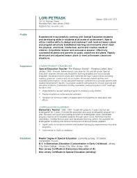 Teaching Resume Examples Science Teacher Of Resumes Australia Instructor