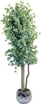 maia shop eukalyptus mit natürlichen stämmen ideal für die inneneinrichtung baum künstliche pflanze 150 cm eucalyptus