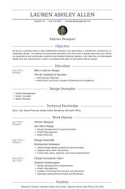 interior design resume template interior designer resume samples
