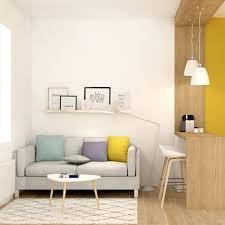 salon canapé gris canapé gris clair avec coussins photos de canapes jaunes