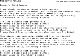 Skiffle Lyrics for Nobody s Child