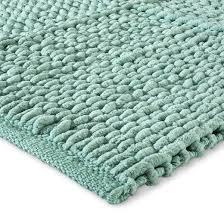 patchwork chenille bath rug mint ash 20 x34 threshold target