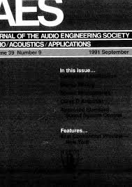 AES E Library Complete Journal Volume 39 Issue 9