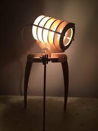 Geek Library Alien Invaders Wooden Assembled DIY Desk Lamp Bedroom Study Reading