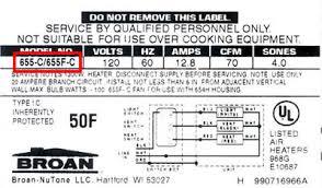 Broan Duct Free Bathroom Fan by Locate Model Numbers Broan