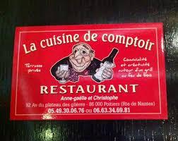 la cuisine de comptoir poitiers la carte de visite photo de la cuisine de comptoir poitiers