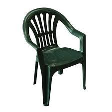 chaise jardin plastique lot 4 chaises jardin en plastique vert elba achat vente fauteuil