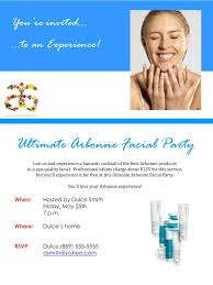 To An Experience Ultimate Arbonne Facial Party