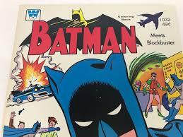 Vintage 1976 Batman Meets Blockbuster Coloring Book New Old Stock Photo 2