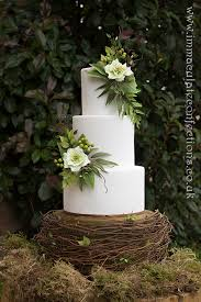Green And White Hellebore Wedding Cake 3