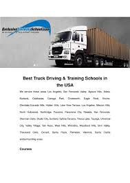 Best Truck Driving & Training Schools In The USA By Excusive ...