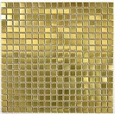 mosaik fliese edelstahl gold gold stahl gebürstet für wand bad wc küche fliesenspiegel thekenverkleidung badewannenverkleidung mosaikmatte