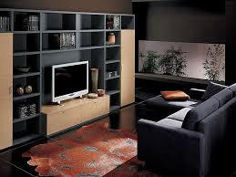 tv room decorating ideas white wall light black leather cushion