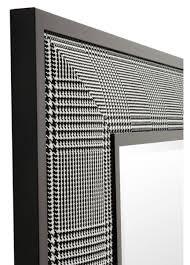 casa padrino wohnzimmer spiegel in schwarz weiß 100 x h 100 cm luxus wandspiegel