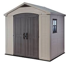 Rubbermaid 7x7 Storage Building Assembly Instructions by Amazon Com Keter Factor Large 8 X 6 Ft Resin Outdoor Backyard