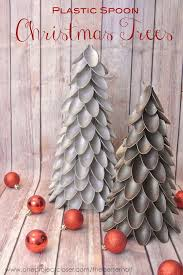 Saran Wrap Christmas Tree With Ornaments by Plastic Spoon Christmas Tree One Project Closer