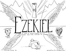 This Free Coloring Page Is Based On The Book Of Ezekiel Its One Part