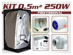 kit chambre culture kit growshop complet avec box 0 5m 250w pro