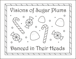 Sugar Plums Coloring Pages Candy Christmas Sheets