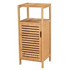 viagdo beistellschrank bambus nachtschrank mit 2 offenen ablagen kommode schrank kleiner seitenschrank küchenschrank flurschrank schmaler schrank