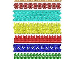 Set Of 8 Laces Machine Embroidery Designs Border Design Sale Designpaadar Club