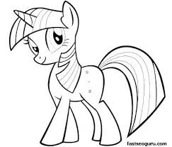 Twilight Sparkle Coloring Page Printable My Little Pony Friendship Is Magic Pages