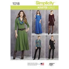 pattern for misses u0027 u0026 petite size knit dresses tunics pant