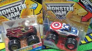 Captain America Iron Man Monster Jam Trucks - YouTube