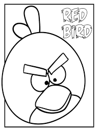 Red Coloring Page Free Pages To Print Angry Birds For Kids Line Drawings
