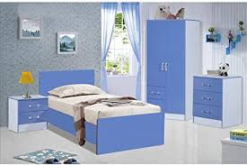 marina ultra hochglanz 3 stück trio schlafzimmer sets möbel einheiten modern blau