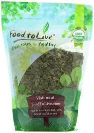 Unsalted Pumpkin Seeds Recipe by Amazon Com Food To Live Organic Pepitas Pumpkin Seeds Raw No