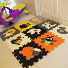 children s soft developing crawling rugs baby play puzzle number