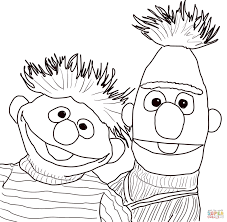 Click The Bert And Ernie Portrait Coloring Pages To View Printable