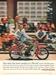 1965 Honda Scooter Print Ad Vintage Decor Plaid Skirt By Vividiom 900