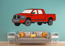 Red Dodge Pickup Truck Wall Art Decal Sticker - Let's Print Big Cartoon Fire Truck New Wall Art Lovely Fire Truck Wall Art Mural For Boys Rooms Gavins Room Room Dump Decor Dumper Print Cstruction Kids Bedrooms Nurseries Di Lewis Nursery Trucks Prints Smw267c Custom Metal 1957 Classic Chevy Sunriver Works Ford Fine America Ben Franklin Crafts And Frame Shop Make Your Own Vintage Smw363 Car 1940 Personalized Stupell Industries Christmas Tree Lane Red Zulily Design Running Stickers For Vinyl
