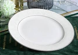 10 Inch Fine Bone China Cupcake Platter Ceramic Chafing Dish Crockery Flat Plate
