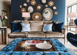 brown and blue living room decorating ideas home interior exterior