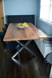 Steel Dining Table Frame Metal Room Legs Amazing Best Dinner Images On With Regard To Wood Diy