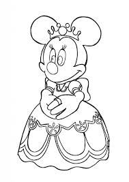 Gallery Of Princess Minnie Mouse Coloring Page 8211 Download Amp Print Online With Regard To Pages