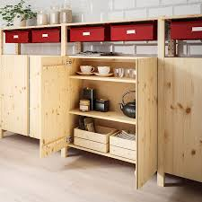 ivar 3 sections cabinet shelves pine ikea in 2021