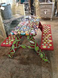 100 Repurposed Table And Chairs Kids Picnic Art Antique Vintage Decor