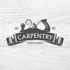Carpentry Retro Vector Illustration Carpenter Design Element In Vintage Style For Logo Label Badge T Shirts