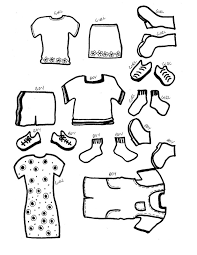 Free Printable Dress up paper doll templates and clothes