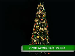 Christmas Tree Stands At Menards by Enchanted Forest 7 U0027 Prelit Led Waverly Mixed Pine Artificial