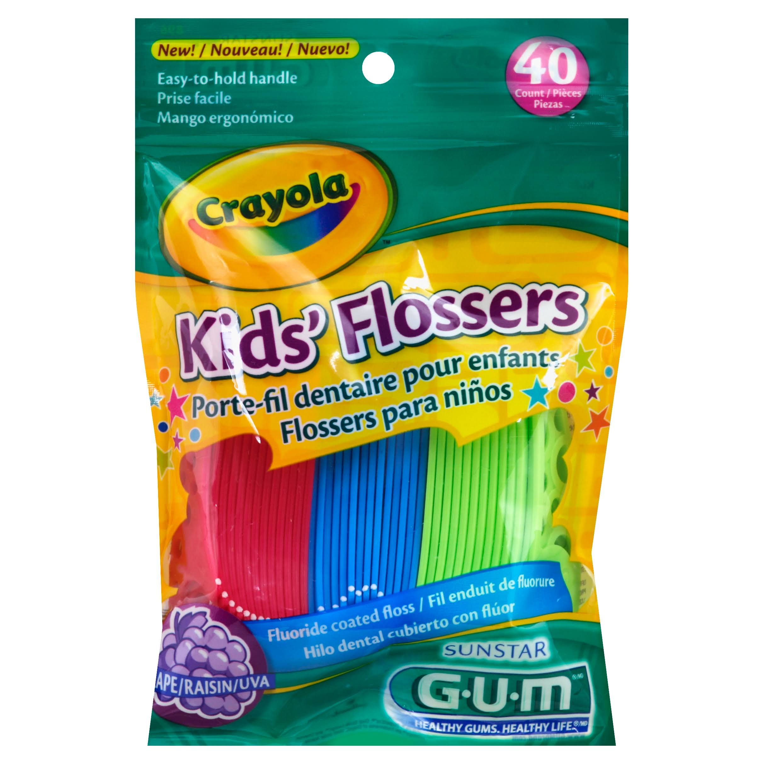 Butler Gum Crayola Dental Flossers For Kids - 40ct