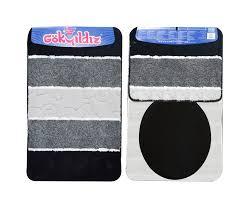 badgarnitur badteppich badezimmergarnitur 100x60cm bund schwarz ohne