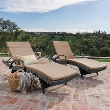Olivia Patio Furniture ~ Outdoor Wicker Chaise Lounge Chair With Arms W/  Water Resistant Cushions (Set Of 2) (Grey With Caramel) Amazoncom Wnew 3 Pcs Patio Fniture Outdoor Lounge Stark Item Chaise Chair Brown Festival 2pcs Patiorama Adjustable Pool Rattan With Cushion Espresso Pe Wickersteel Frame Christopher Knight Home 80x275 Green Pads For Chairs Set Of 2 Gojooasis Recliner Styles Biscayne Huyya Lounges Sun Outmax Wicker Folding Back Footrest Durable Easy Carry Poolside Garden 14th Mobility Armrest Chair Staggering Medium Pc